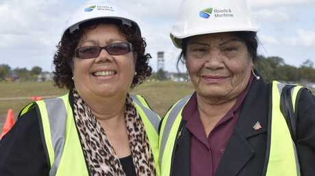 MAKING HISTORY: Yaegl Land Council CEO Noeline Kapeen and chairperson Eileen McLeay, who was too shy to cut the ribbon when the first Harwood Bridge opened 50 years ago.