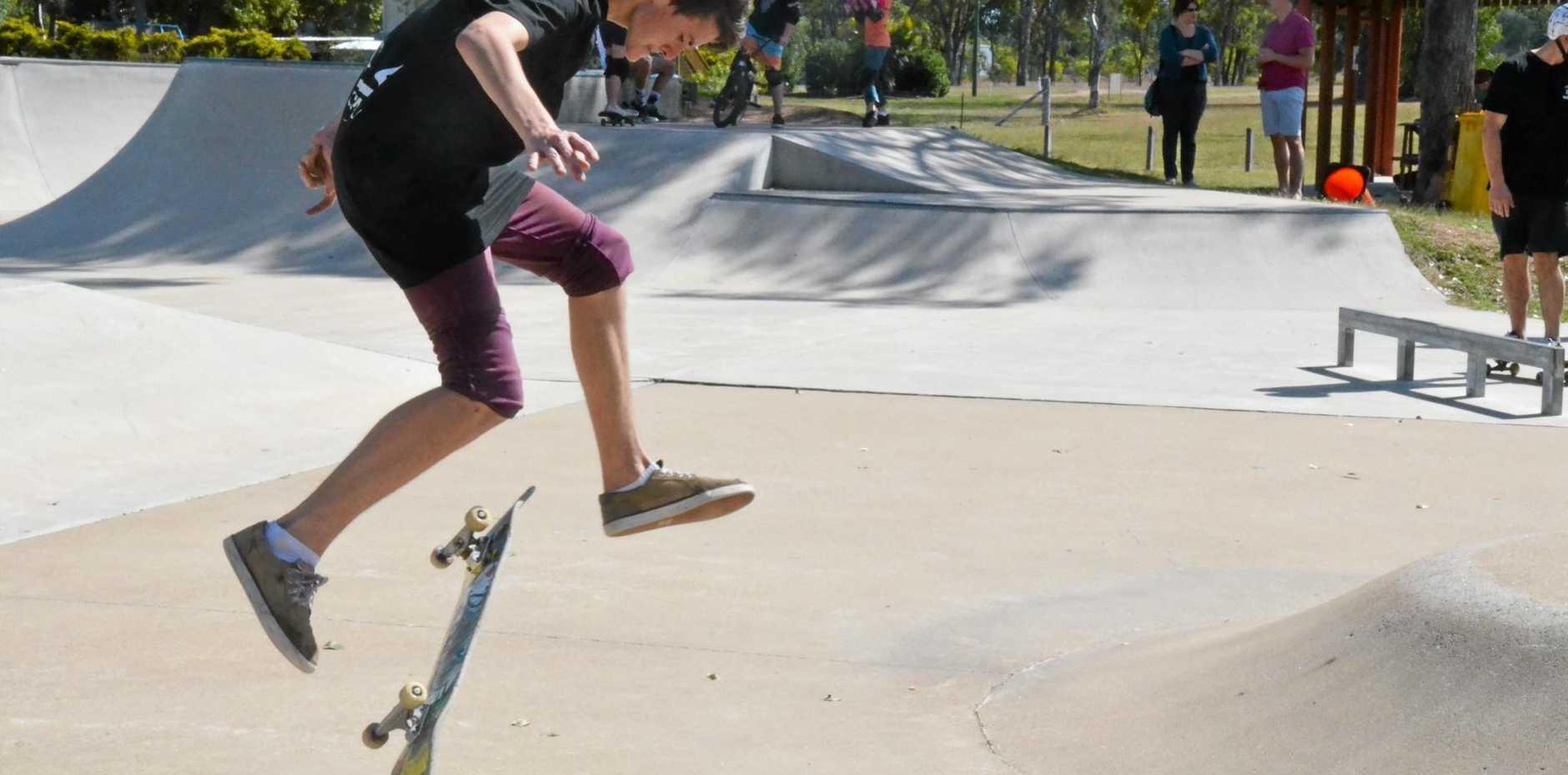 SKILLED RIDER: Nicholas Wenck making tricks look easy.