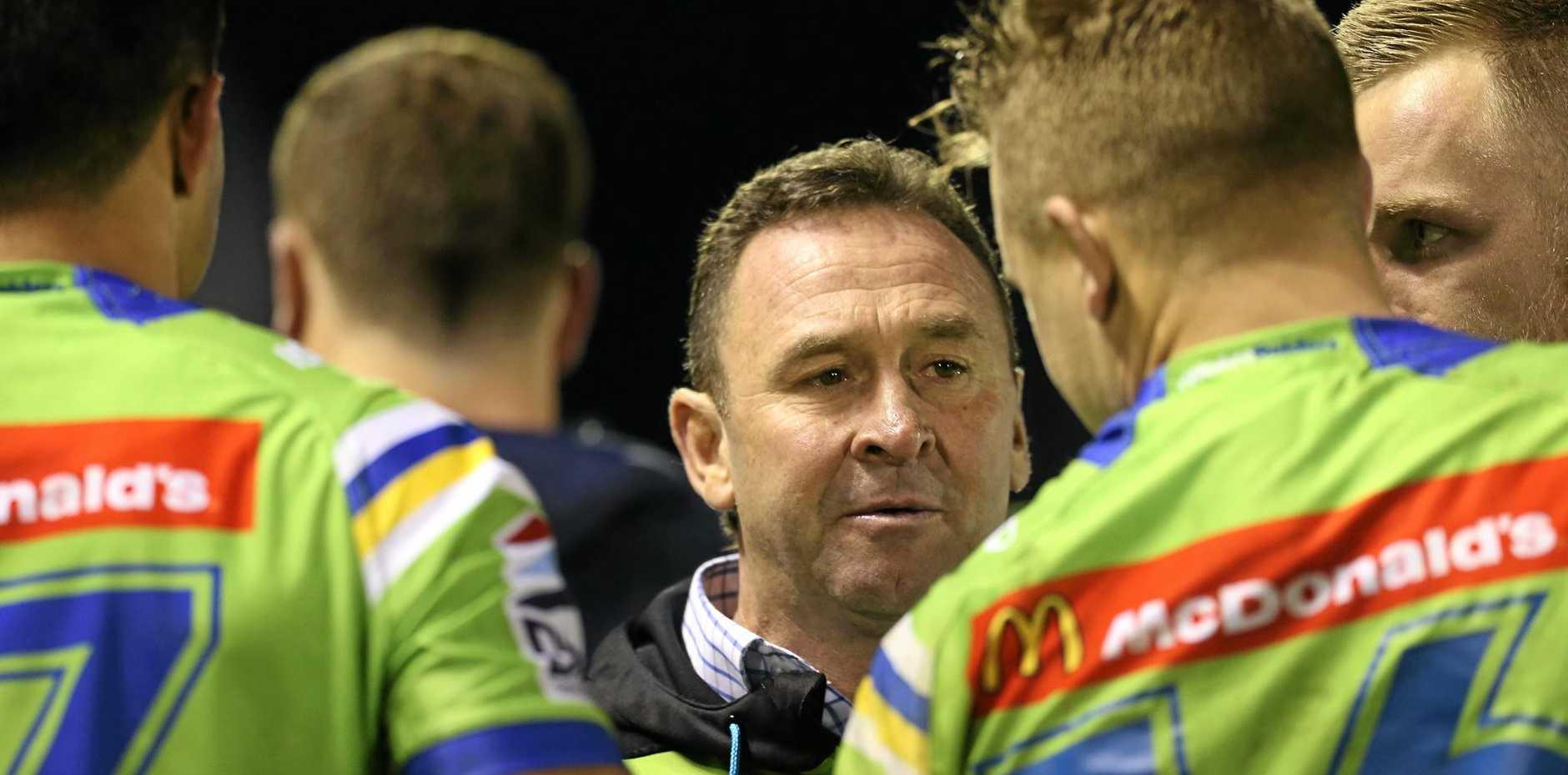 Raiders coach Ricky Stuart