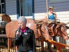 Southern Downs Mayor Tracy Dobie at the Killarney and District Historical Centre to dedicate the statues.
