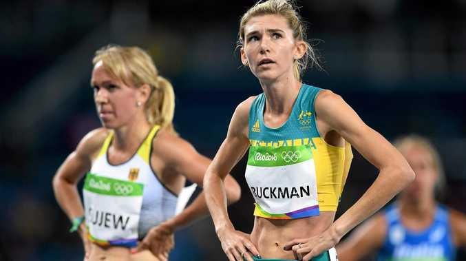 RIO DE JANEIRO, BRAZIL - AUGUST 12:  Zoe Buckman of Australia looks on after the Women's 1500m Round 1 - Heat 3 on Day 7 of the Rio 2016 Olympic Games at the Olympic Stadium on August 12, 2016 in Rio de Janeiro, Brazil.  (Photo by Shaun Botterill/Getty Images)