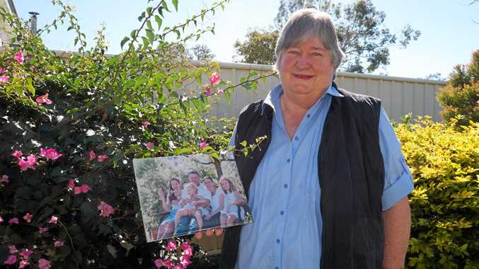 This year's face of Roma's Relay for Life Mavis Blunt lost her daughter in law (pictured in the photo) to cancer.