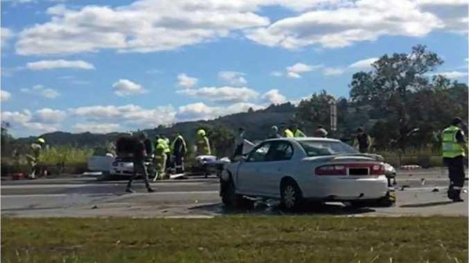 A fatal car crash at Chinderah on Sunday.