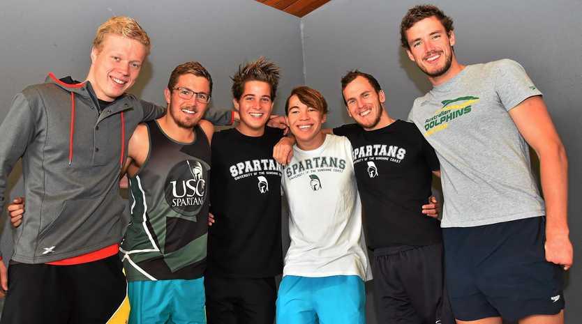Sunshine Coast paralympians off to Rio. From left, Guy Harrison-Murray, Jacob Templeton, Logan Powell, Braedan Jason, Rick Pendleton and Blake Cockrane.