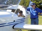 PINT-SIZE PILOT: Four-year-old Michael Fischer was more than happy to test out the pilot seat of a Sierra Low Wing monoplane, built by Grafton Aero Club president Kevin Wilson at the annual Wings and Wheels Day in South Grafton.