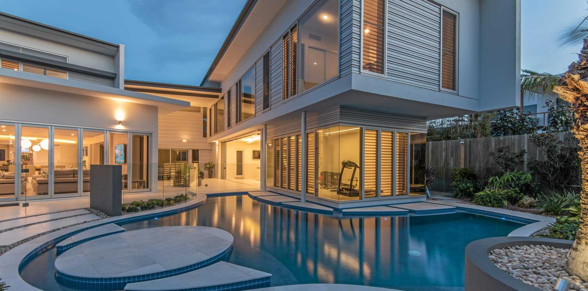 LUXURY LIVING: The Coral Cove home built by Steve Coates Constructions that took out the best home over $2 million and the Wide Bay Burnett House of the Year at the Master Builders Wide Bay Burnett Housing and Construction Awards.