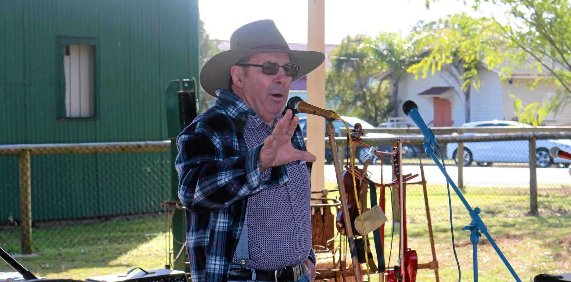 Tony Caswell shares his poem during the annual Poets in the Park breakfast at Marburg on Saturday, August 13.