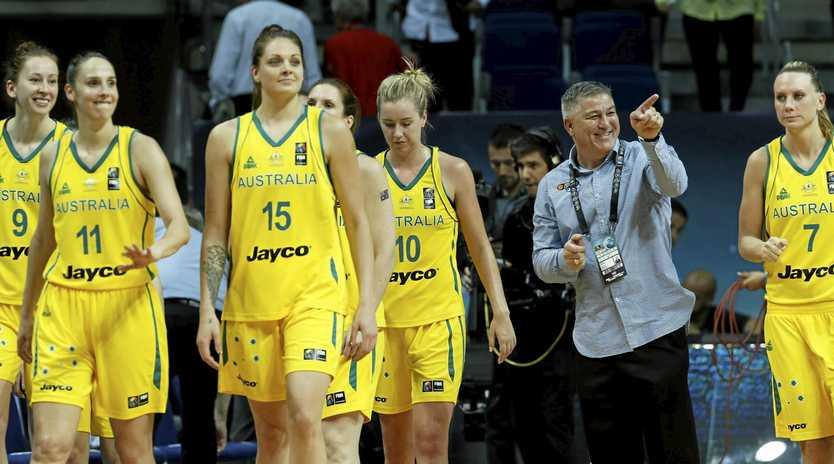 MEDAL DREAMS: Australia's head coach Brendan Joyce and his players.