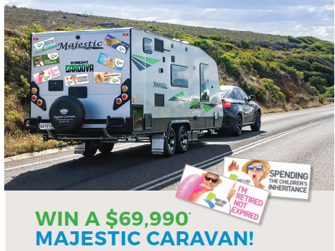 The caravan worth $69,990 which you win by entering this competition.