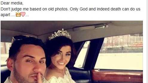 Salim Mehajer posted this image of him and Aysha Learmonth on their wedding day alongside the words