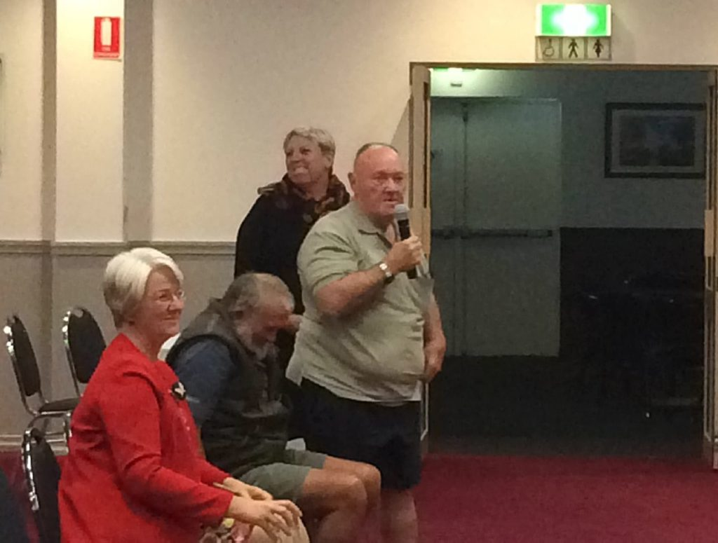 Charlie asked a question of Bill Shorten in Rockhampton.