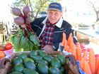 FRESH IS BEST: Gus Steffens, from Gatton, sold fresh produce at the Minden Markets on Sunday.