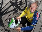 Caroline Buchanan was in good form in BMX qualifying.