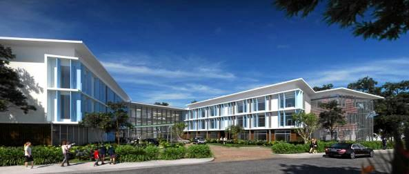 IMPRESSION: A vision of the proposed aged care facility.