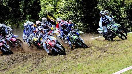 REVVED UP: Green Park plays host to plenty of motocross action.