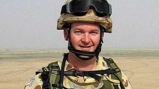 Major Stuart McCarthy while serving in Iraq in 2006.