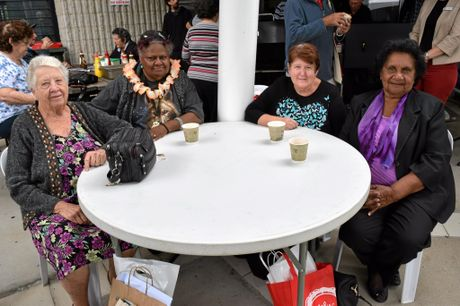 The young at heart enjoying the entertainment at Seniors Expo 2016. From left to right, Olive Bennett, Cissy Griffin, Denise Weight, Merle Barber.