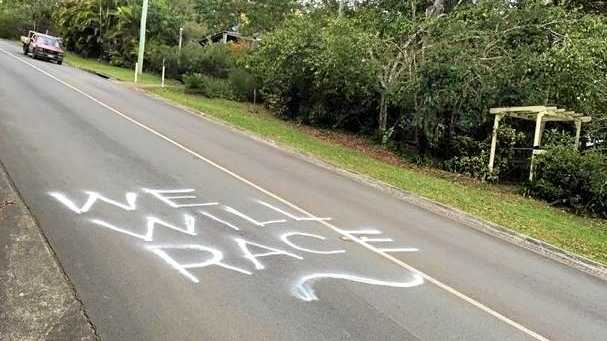 DAMAGE: Vandals struck over the proposed Hinterland TT race.