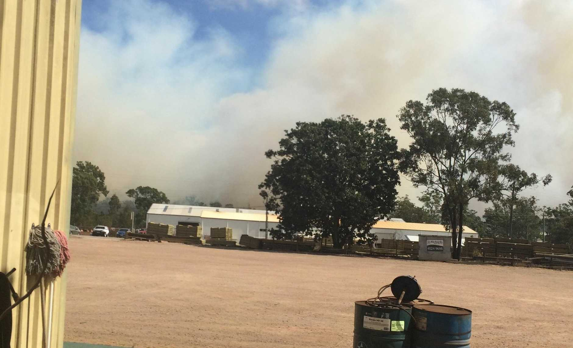 A fire is burning north of Maryborough. It has closed the Bruce Highway due to smoke.
