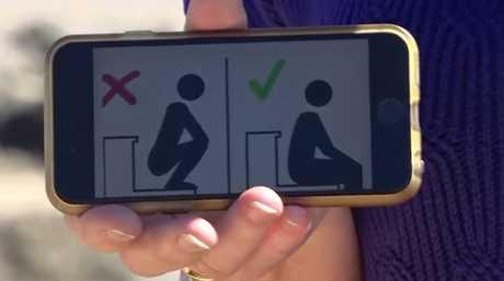 Squat toilet vs Aussie toilet sticker