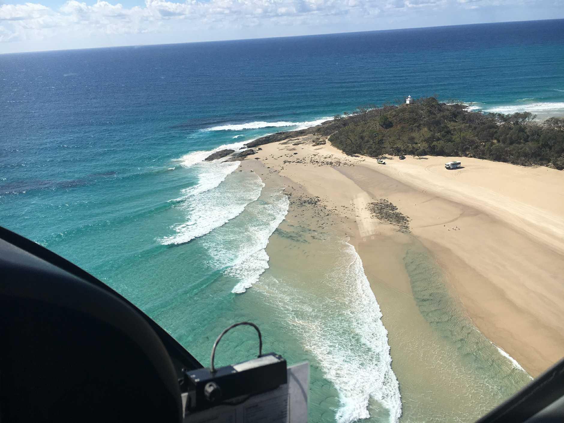 RACQ Chopper rescue Cape Moreton