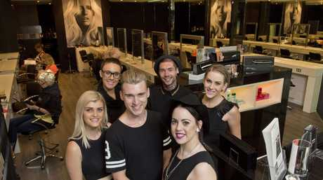 The team at Oscar Oscar Salons Toowoomba is one of the most popular in town. (back left) Alex Halsey, Cristian Nugent, Jessica Kane (front left) Kirsten Rolls, Christopher Jordan, Hollie-Jay Smith