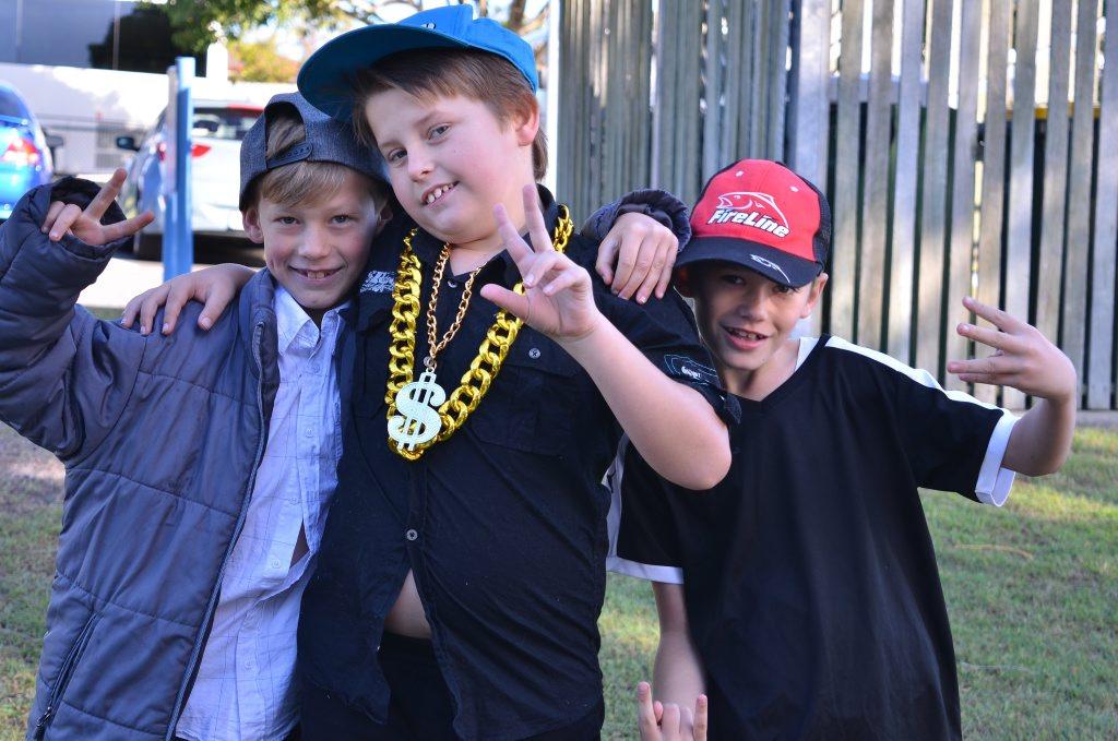 Movie stars Linkin (L), Nate and Daniel.