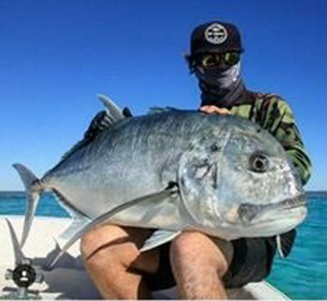 Cody Ison caught this giant trevally on the same fishing trip with the same lure.