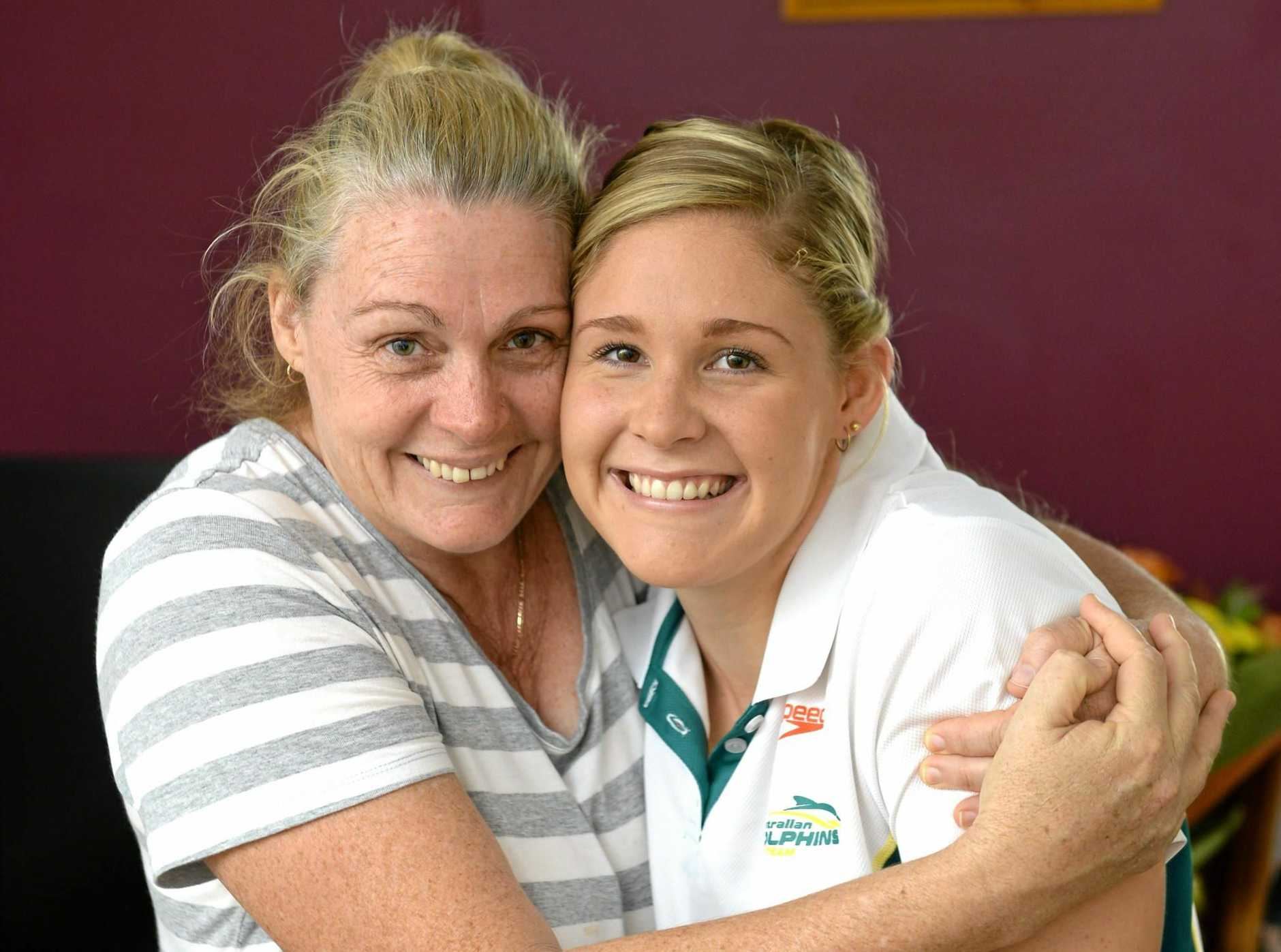 Ipswich's Olympic silver medallist Leah Neale with her proud mum Karen.