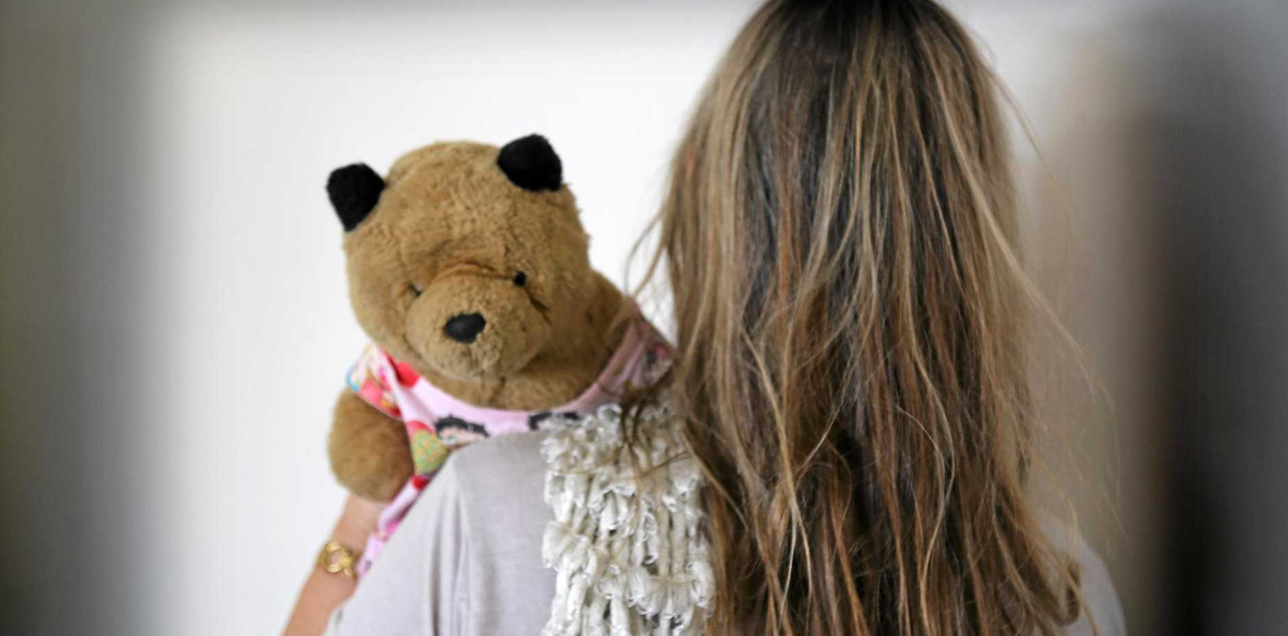 KEEPING FAITH: Domestic violence survivor Faith Wood with Fleabear.
