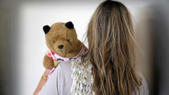 KEEPING FAITH: Domestic violence survivor Faith Wood with Fleabear.