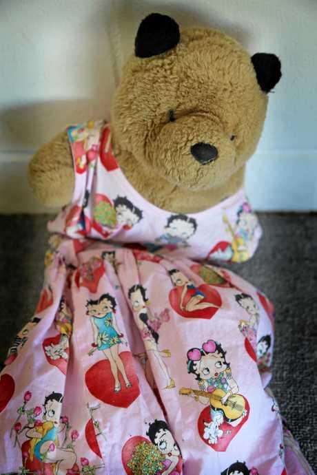 KEEPSAKE: A stuffed teddy called Fleabear is one of Faith Wood's only items.