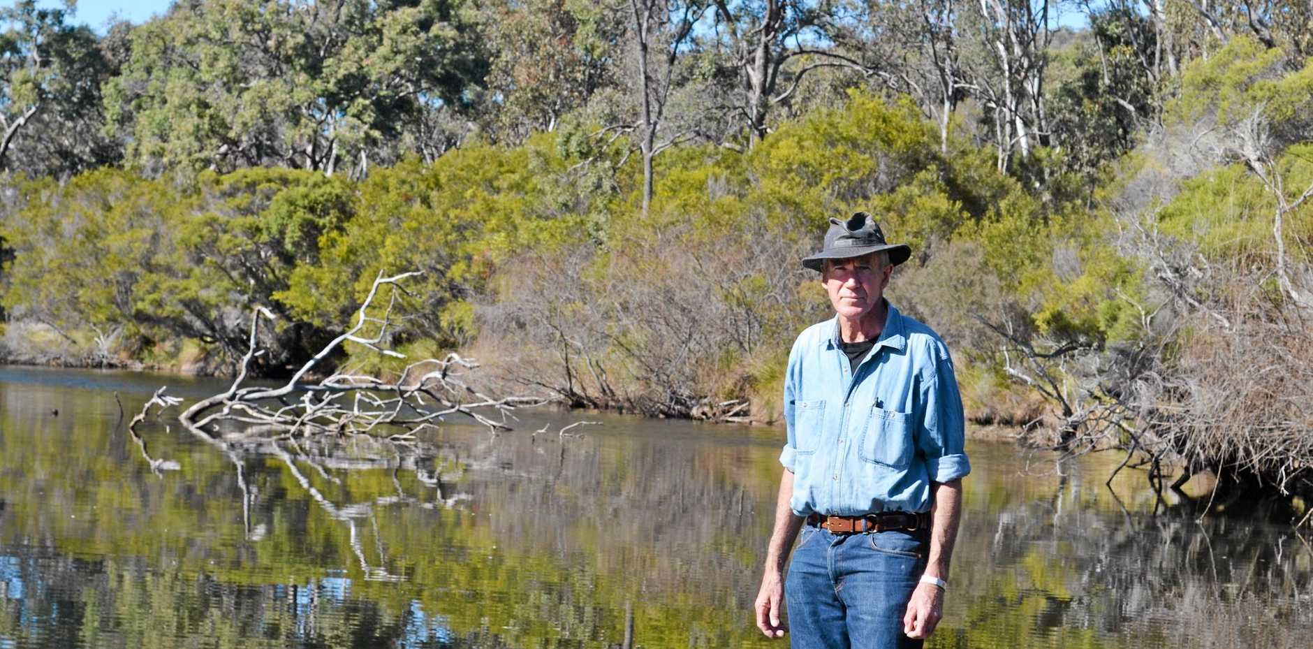 DAM CONCERNS: Robert Simcocks does not believe Emu Swamp Dam is the best option for our region's water.