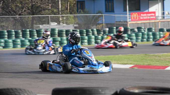 Ben Walker in action during the 2016 Winter Carnival at Helidon's Greer Park Raceway.