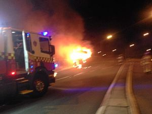 Motorhome goes up in flames after dinner