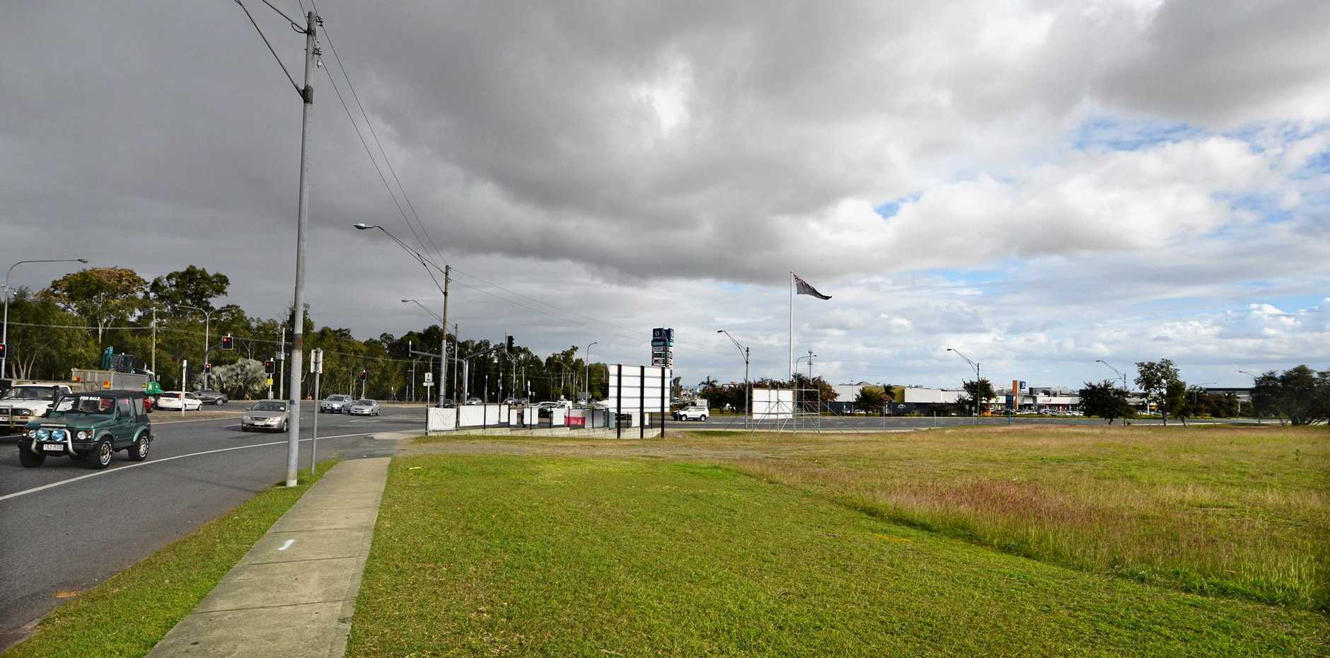 The vacant block on the corner of Yaamba Road and Moores Creek Road which will soon be the location of Rockhampton's newest shopping centre.   Photo: Chris Ison / The Morning Bulletin