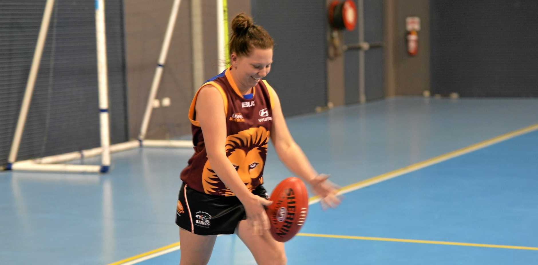 North Mackay Saints midfielder Codie Rasmussen has only been playing for a year and wanted to show what Mackay women's footy had to offer.