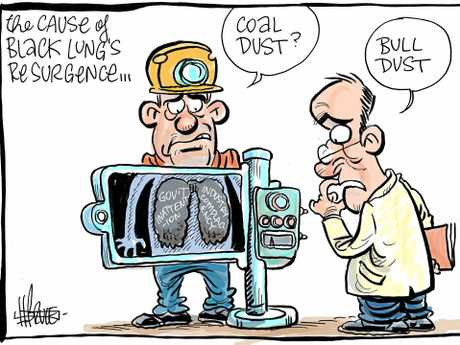 Black lung cartoon by Harry Bruce.