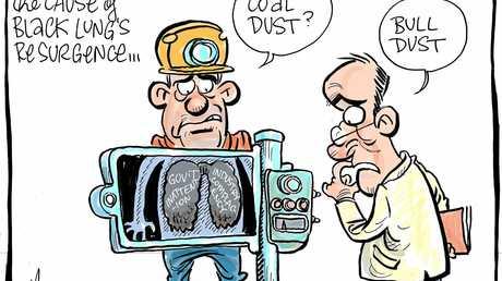 Black lung cartoon by Harry Bruce.
