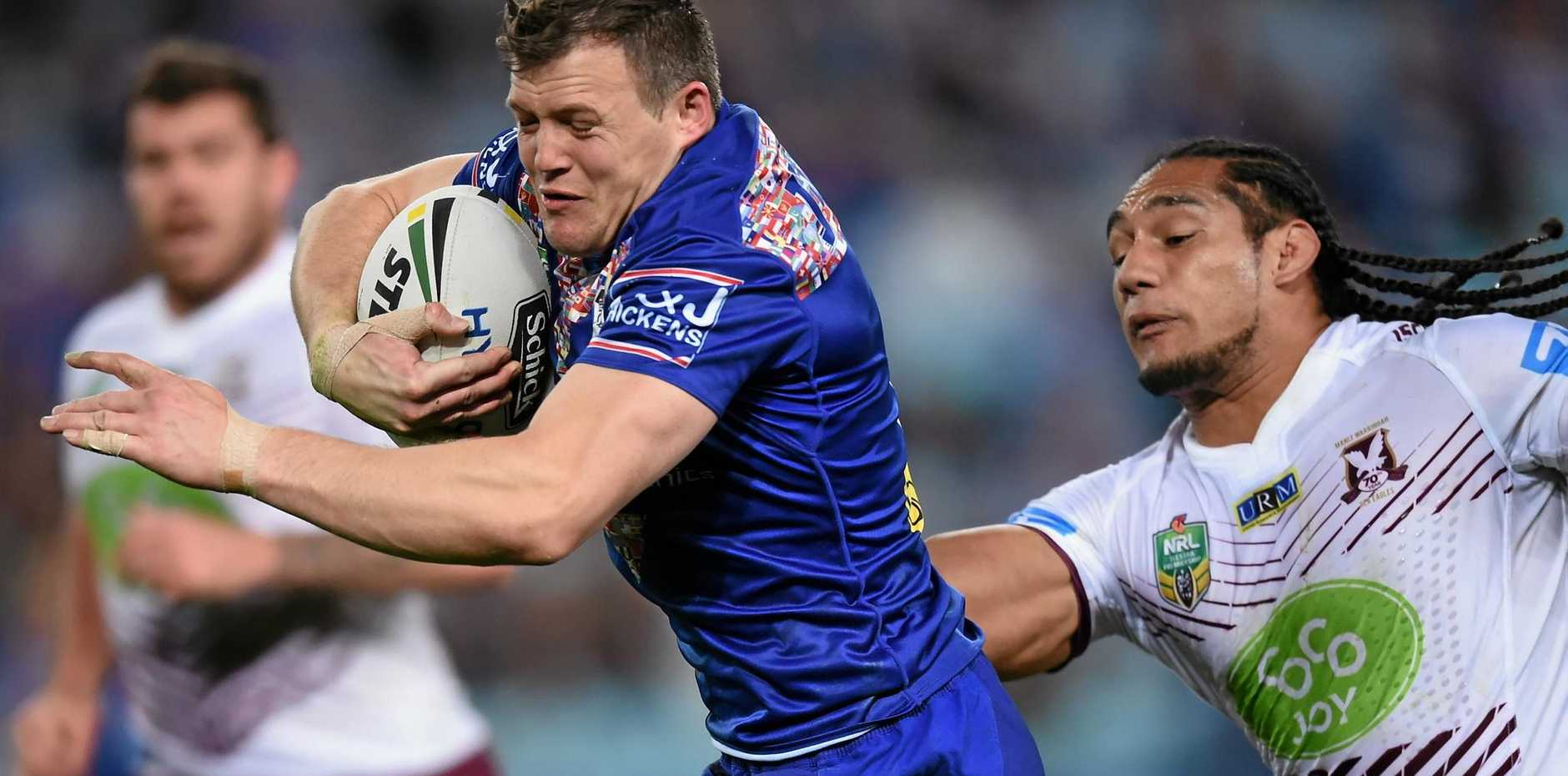 CLUB FIRST: Brett Morris will leave a decision on his participation in the Four Nations up to his Bulldogs coach Des Hasler.