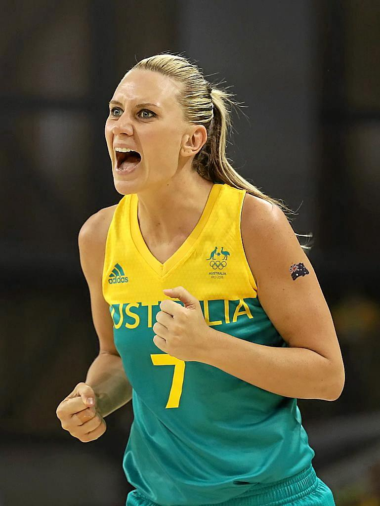 NOT TO SCRIPT: Penny Taylor in action for the Opals in Rio.