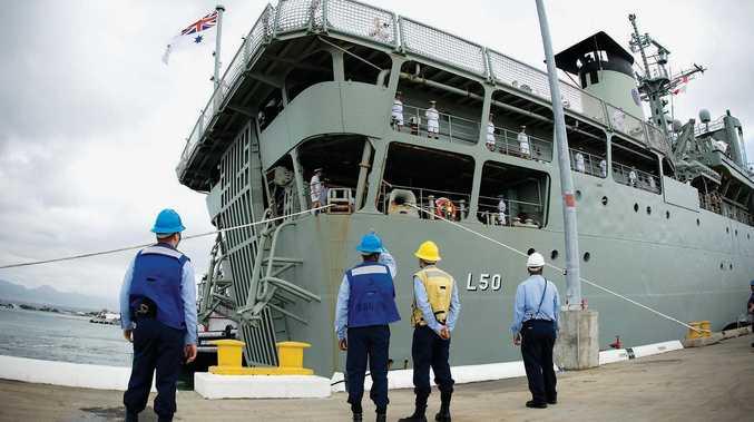 The HMAS Tobruk.