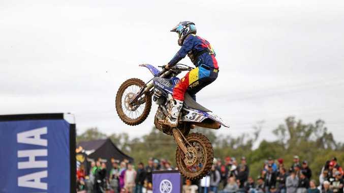 FLYING HIGH: Toowoomba motocross rider Jacob Wright.
