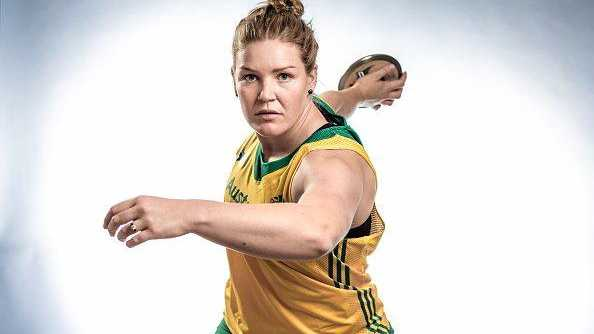 SO CLOSE: Discus thrower Dani Samuels of Australia.