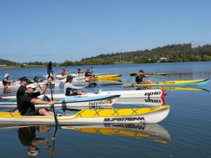 Paddlers take to Clarence to raise funds for junior sport