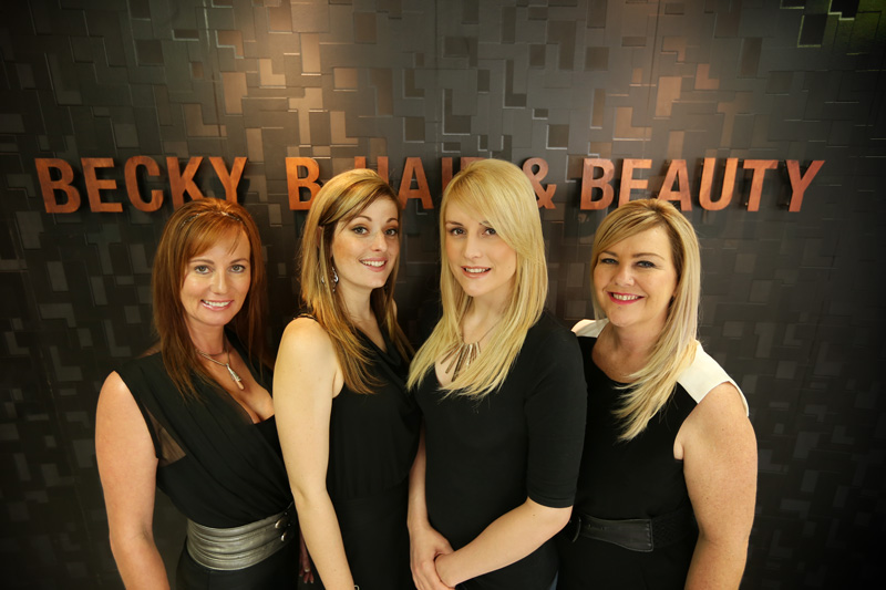 The team at Becky B Hair and Beauty.