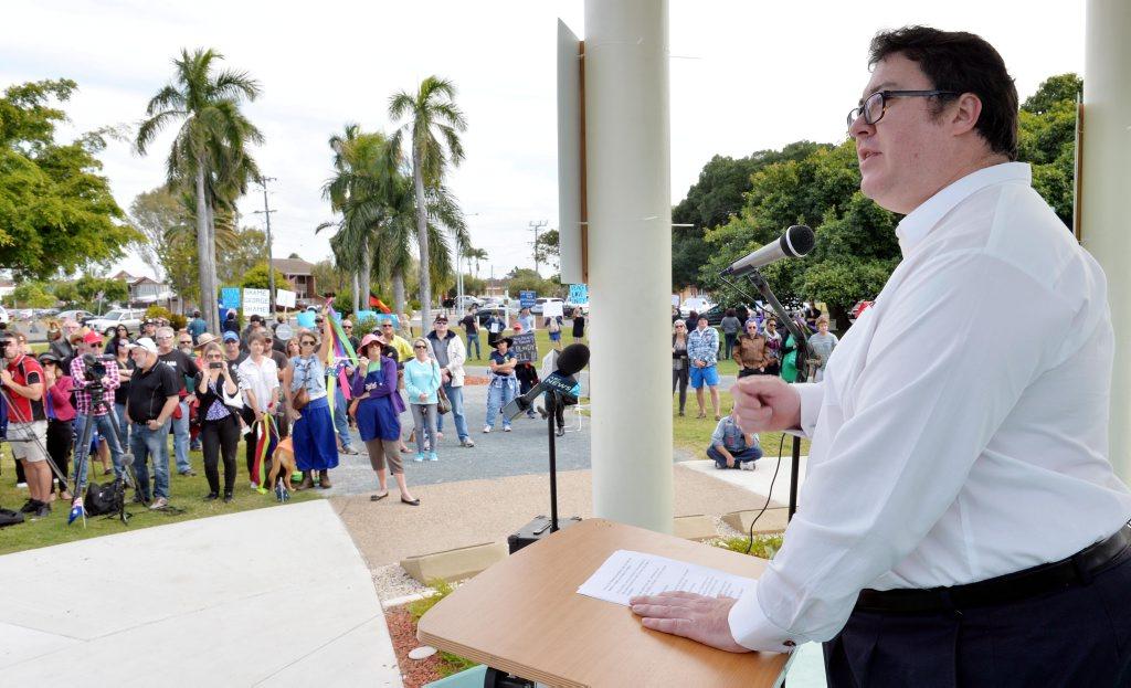 George Christensen at Reclaim Australia Rally in Mackay Photo Tony Martin / Daily Mercury