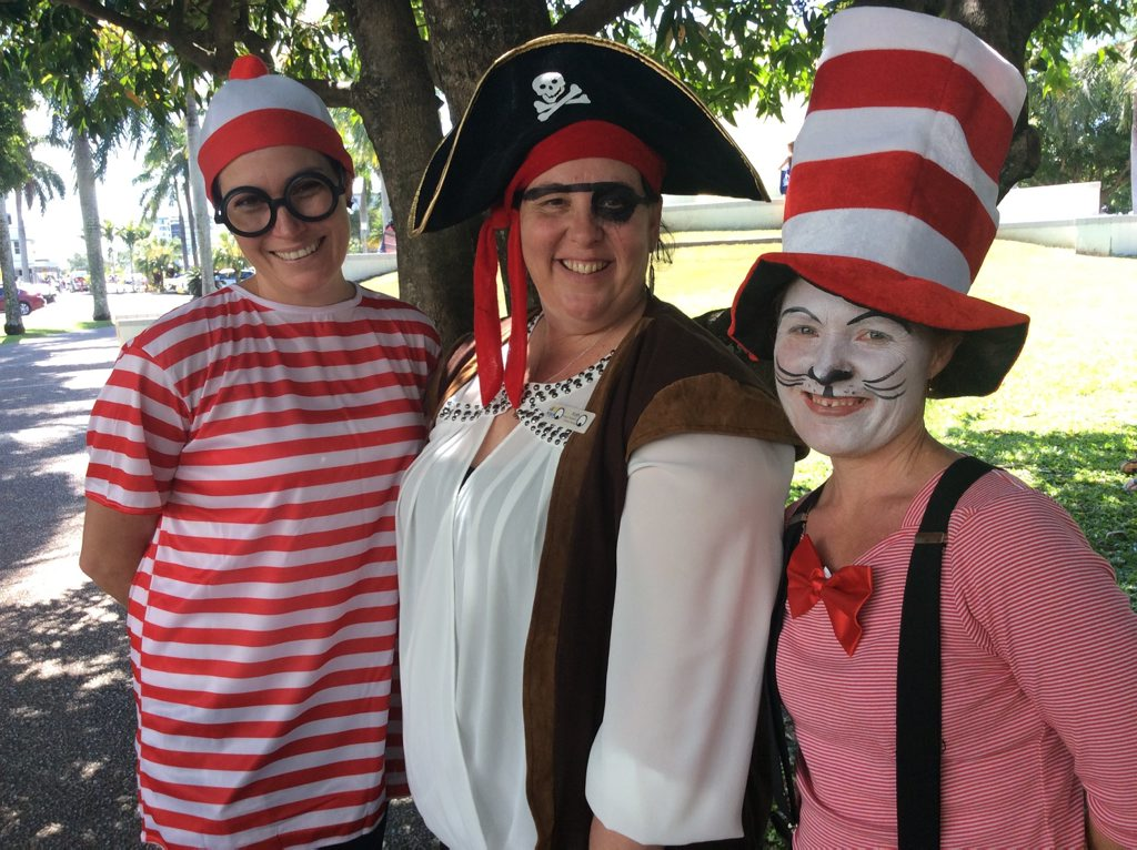 At last years Picnic in the Park were Wheres Wally (Kirsty Huth), Pirate Kath (Kath Evans) and Cat in the Hat (Lotte Sjoegren)