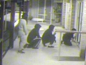 CCTV: Men force way into bowls club in crime spree