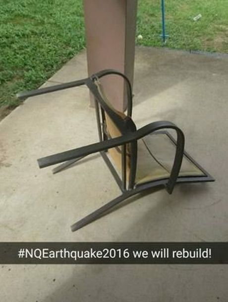 Caitie McFarlane posted on Twitter: 5.8 magnitude is not a bad effort for my first earthquake #NqEarthquake2016 #WeWillRebuild